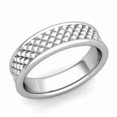 Customized fancy diamond cut wedding ring for men or women set in comfort fit wedding band with your choice of or white, yellow or rose gold and platinum. Platinum Wedding Rings, Celtic Wedding Rings, Beautiful Wedding Rings, Wedding Rings For Women, Wedding Ring Bands, Band Rings For Her, Gold Band Ring, Rings For Men, Wedding Anniversary Rings
