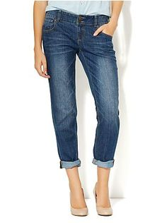Slim Slouch Jean - Blue Bowery Wash  This style is comfy but stylish. NY has the best jeans for women with curves.