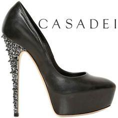 Casadei crystal heel pump