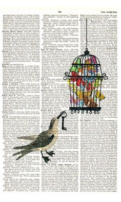 Recycled Book Page Art (3)