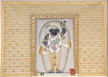 Shrinathji 4 traditional art by Pichwai Art | ArtZolo.com