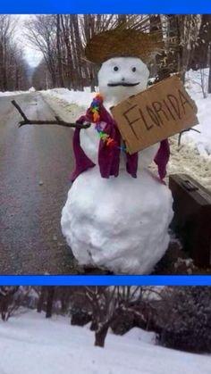 Hitchhiking Snowman