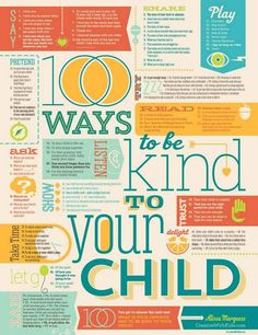 100 Ways to Be Kind to Your Child Print 18x24 por CreativeWithKids