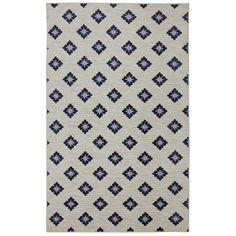 Mohawk Home Woodbridge Button Fleur Navy (5' x 8') (Navy), Blue, Size 5' x 8' (Nylon, Floral)