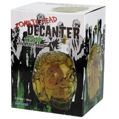 Drink In Style With This Zombie Head Decanter for sale by Rachel's Graveyard at MoreThanHorror.com