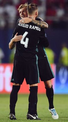 Sergio Ramos and Toni Kroos Real Madrid UEFA Super Cup