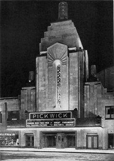 CHICAGO: Zook & McCaughey, the 1,500-seat, Pickwick Theatre began life in 1928 ~Repinned via Anthony Alfaro