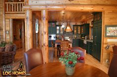 Log Cabin Homes from Golden Eagle Log and Timber Homes: Photo Gallery Kitchen Cabinetry, Cabinets, Timber House, Log Cabin Homes, Home Kitchens, Rustic Kitchens, Home Pictures, Custom Cabinetry, Cabins In The Woods