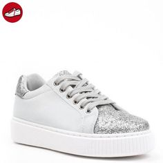 Ideal Shoes, Damen Sneaker , silber - silber - Größe: 41 EU (*Partner-Link)