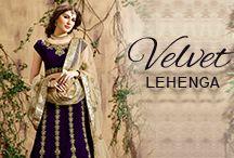 Velvet Lehenga Choli