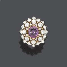 A pink sapphire and diamond ring, by Buccellati