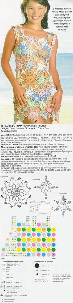 CROCHÊ - SAÍDA DE PRAIA FLORAL