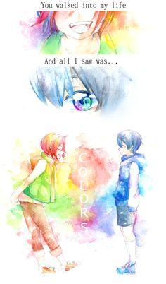 Colors ...  Drawn by Floodlight-Zhou  ...  Free! - Iwatobi Swim Club, free!, iwatobi, haruka nanase, haru nanase, haru, haruka, nanase, rin, matsuoka, rin matsuoka