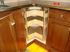 Image of: kitchen corner cabinet organizers