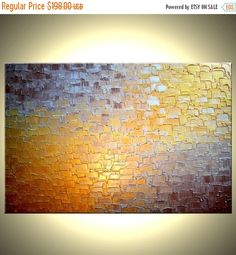 Original Abstract Painting  Gold Metallic Palette by Laffertyart