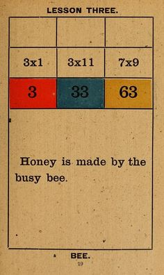 Lesson Three – Honey Is Made By The Busy Bee
