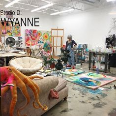 Cant make it to work with me in person? Next best thing...Tough Love Creative Live Experience. A couple spots left. Work one on one with me in a small intimate group online to find your own voice in your art. Live video calls. No cookie cutter art. I believe everyone has a unique gift to give to the world. http://www.wyanne.net