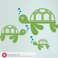 Sea Turtle Wall Decal: Ocean Nursery Kids