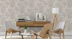 Cr/éation papel pintado Woodn Stone beige marr/ón gris 10,05 m x 0,53 m 927316 A.S