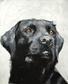 Dog Painting Dog Art Dog PRINT Dog Oil Painting Black Labrador Dog - Art Print - from original painting by J Coates by JamesCoatesFineArt on Etsy Black Labrador, Black Labs, Arte Pop, Dog Portraits, Animal Paintings, Dog Art, Art Drawings, Art Prints, Canvas Prints