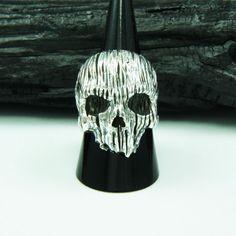 HORROR GOTHIC SKULL 925 STERLING SILVER US Size 10 BIKER ROCKER RING cs-r005 #Handmade