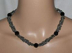 Jewelry, Fashion, Necklaces, Grey, Black, Glass Beads, Moda, Jewlery, Jewerly