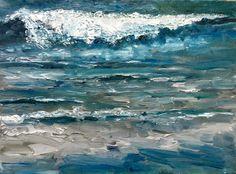 The Wave beach sea Netherlands Dutch oil by NancyvandenBoom, €225.00