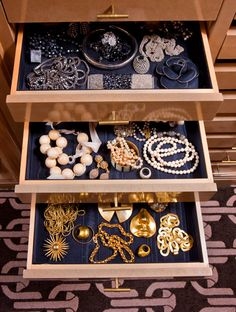 Kelly Wearstlers Jewelry Drawers Organized By Type Of Metal Resin Lucite Etc