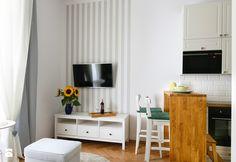 Mieszkanie na Asnyka w Krakowie pod wynajem krótkoterminowy - Salon, styl skandynawski - zdjęcie od Pracownia Kardamon