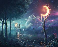 "SELENOPHILIA[noun]a love for the moon.Etymology: from Greek selēnē, ""moon"" + philia, ""love"".[Sylar113]"