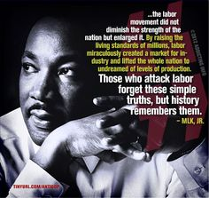 The labor movement...