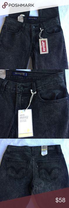 Levi's Jeans Black Skinny 524 Jeans Denim 7 M New 8 High levis Jeans Skinny