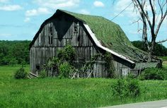 Very old Green barn