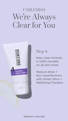 Our UNBLEMISH products offer a gentle and effective way to address adult acne and aging concerns. Acne Skin, Acne Prone Skin, Acne Scars, Oily Skin, Unblemish Rodan And Fields, Adult Acne Treatments, Acne Solutions, Home Remedies For Acne, Lingerie