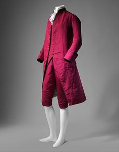 Suit. 1770-1780. Probably British. Wool, silk, cotton.  The Metropolitan Museum of Art, MET, New York.