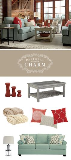 Pastoral Charm™ - Daystar Sofa - Soft, Neutral and Fresh Furniture Style - Ashley Furniture