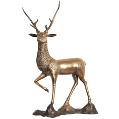 View this item and discover similar for sale at - Very decorative and large sculpture really good patina and condition a Goldwood vintage item Animal Sculptures, Sculpture Art, Deer Art, Sculpting, 1970s, Vintage Items, Brass, Christmas Ornaments, Animals