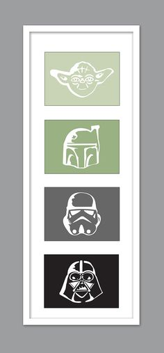 4 Star Wars Character Silhouettes.