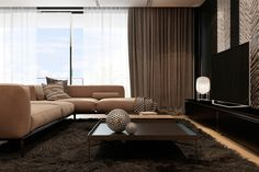 Roohome.com-Having an apartment with a modern design is expected by many people.This modern apartment design makes our dwelling look more contemporary and elegant. It can be the coziest place in the world that would ask you to stay all day long. The beautiful living room design and the other interior ...