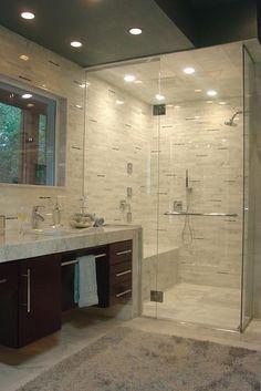 120 Elegant and Modern Bathroom Shower Tile Master Bath 90 Handicap Bathroom, Bathroom Renos, Bathroom Renovations, Master Bathroom, Home Remodeling, Design Bathroom, Master Tub, Bathroom Ideas, Disabled Bathroom
