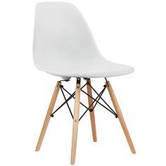 crazygadget Charles & Ray Eames inspiriert Eiffel DSW Retro Design Wood Style Stuhl für Büro Lounge Küche-weiß schwarz / weiß
