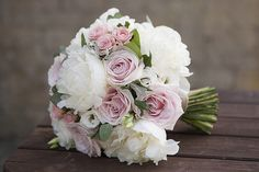 Bouquet de la mariée  : blanc et blush