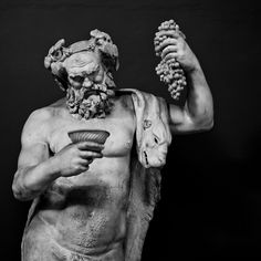 Statue of Dionysus (the god of the grape harvest, winemaking and wine) inside the Vatican. Rome, Italy - April, 2013