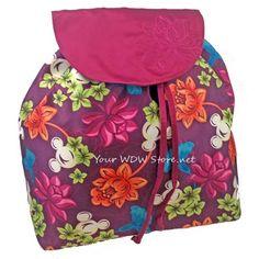 Disney Backpack Bag - Hawaiian Floral Mickey Icon
