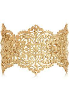 IAM by Ileana Makri Chantilly gold-plated silver cuff   NET-A-PORTER