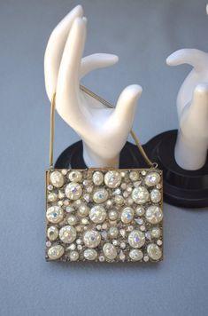 Jeweled Minaudiere Compact Dance Purse Mid Century Vintage | Etsy Etsy Vintage, Vintage Items, Mid Century, Jewels, Purses, Handbags, Jewelery, Gemstones, Wallets