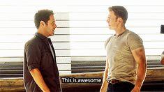 Scott Lang (Ant Man) meeting Steve Rogers (Captain America)