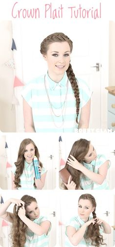 crown plait hair tutorial