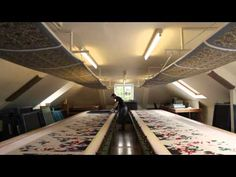 ▶ Hand printing of silk - YouTube