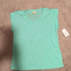 2 t shirts one NWT Faded Glory second Sonoma NWT Faded Glory green tshirt and one mint green Sonoma both size medium Faded Glory Tops Tees - Short Sleeve